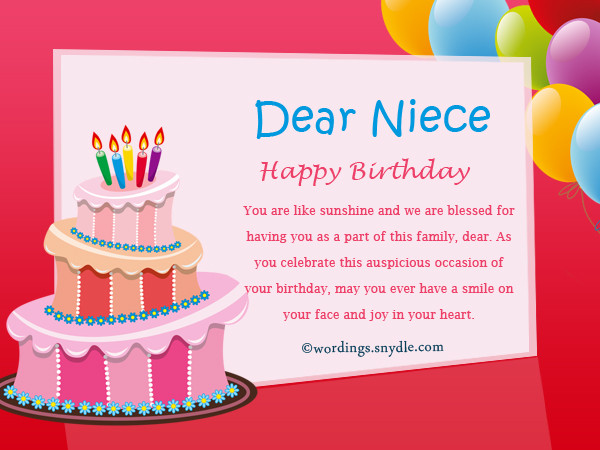 Best ideas about Birthday Wishes For Aunt From Niece . Save or Pin Sweet Happy Birthday Niece Messages Now.