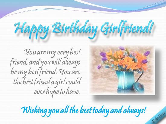 Best ideas about Birthday Wishes For Best Friend Girl . Save or Pin A birthday ecard for your girlfriend your best friend Now.