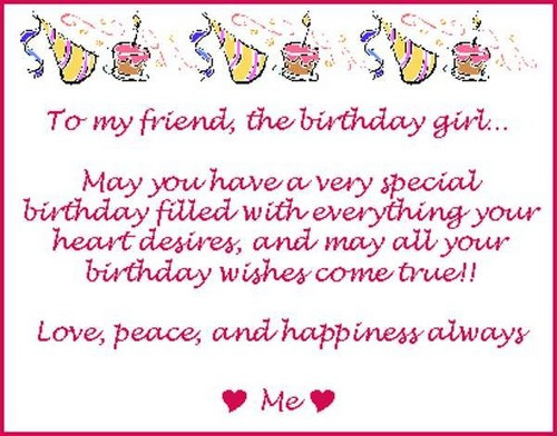 Best ideas about Birthday Wishes For Best Friend Girl . Save or Pin Birthday Wishes For Best Female Friend Now.