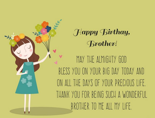 Best ideas about Birthday Wishes For Big Brother . Save or Pin 200 Best Birthday Wishes For Brother 2019 My Happy Now.