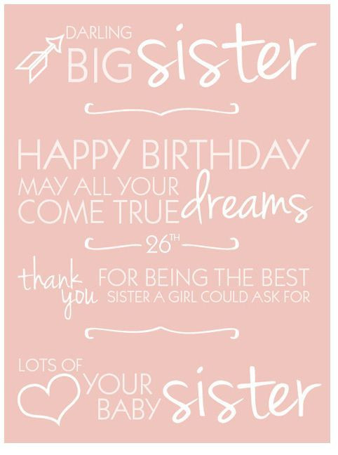Best ideas about Birthday Wishes For Big Sister . Save or Pin Happy Birthday Sister Quotes Happy 26Th Birthday Quotes Now.