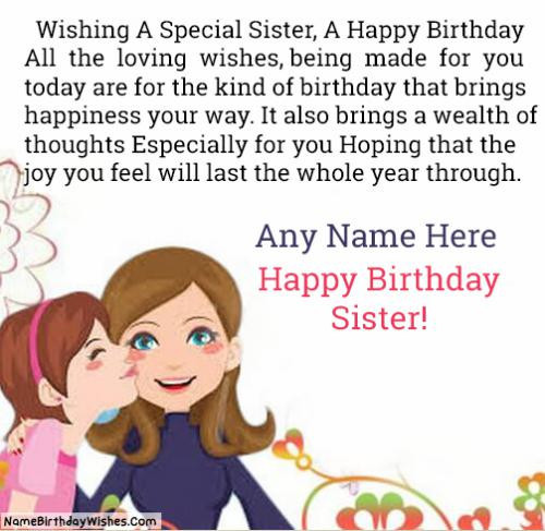 Best ideas about Birthday Wishes For Big Sister . Save or Pin 500 Free Birthday Wishes Cards With Name & Now.