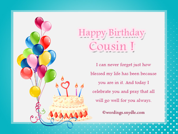 Best ideas about Birthday Wishes For Cousin Female Images . Save or Pin Birthday Wishes For Cousin Wordings and Messages Now.