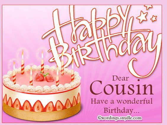 Best ideas about Birthday Wishes For Cousin Female Images . Save or Pin Happy Birthday Dear Cousin s and Now.