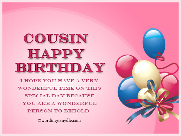 Best ideas about Birthday Wishes For Cousin . Save or Pin Birthday Wishes For Cousin Wordings and Messages Now.