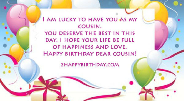 Best ideas about Birthday Wishes For Cousin . Save or Pin Happy Birthday Cousin Wishes & Quotes 2HappyBirthday Now.