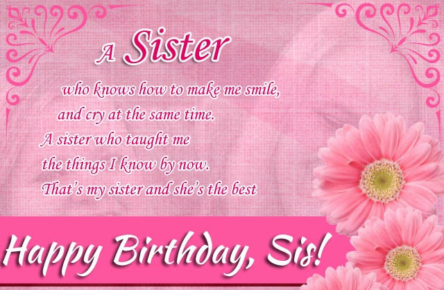 Best ideas about Birthday Wishes For Cousin Sister . Save or Pin Happy Birthday Wishes For Sister Birthday Wishes for Sis Now.
