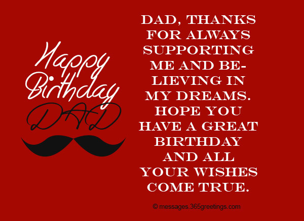 Best ideas about Birthday Wishes For Dad . Save or Pin Birthday Wishes for Dad 365greetings Now.