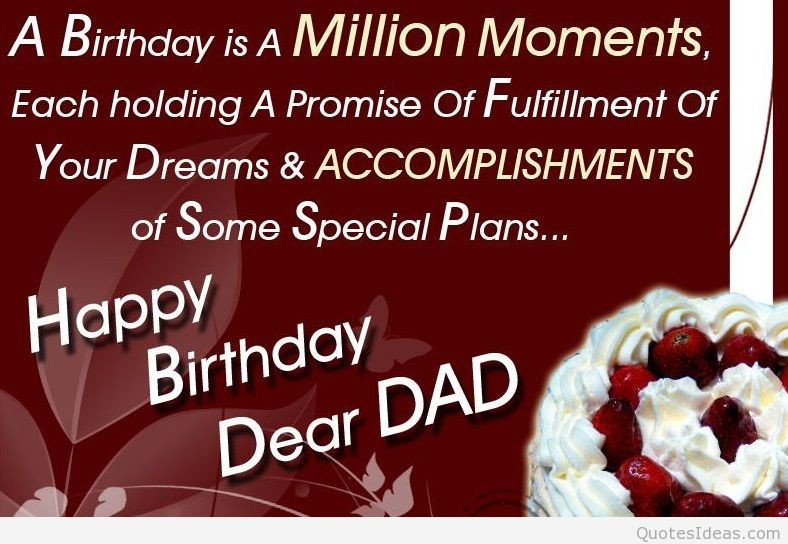 Best ideas about Birthday Wishes For Dad . Save or Pin Happy Birthday Dad Quotes QuotesGram Now.