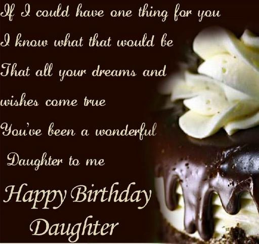 Best ideas about Birthday Wishes For Daughter From Mother . Save or Pin Happy Birthday Quotes for Daughter with Now.