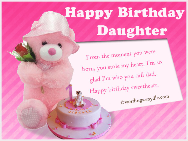 Best ideas about Birthday Wishes For Daughter From Mother . Save or Pin Birthday Wishes for Daughter Wordings and Messages Now.