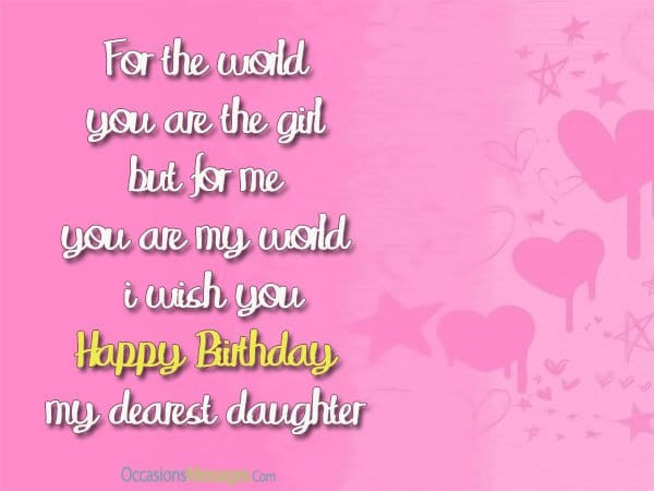 Best ideas about Birthday Wishes For Daughter From Mother . Save or Pin Birthday Wishes for Daughter from Mom Occasions Messages Now.
