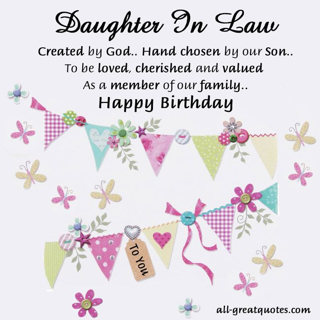 Best ideas about Birthday Wishes For Daughter In Law . Save or Pin Sweetest Daughter in law birthday cards to share Now.