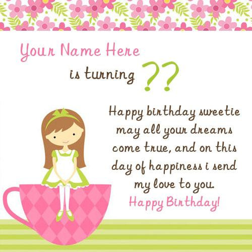 Best ideas about Birthday Wishes For Girl . Save or Pin Birthday Wish for Girl With Name Now.