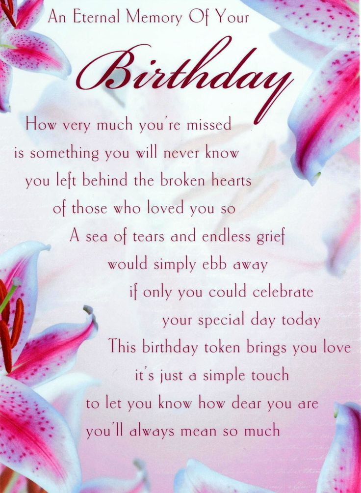 Best ideas about Birthday Wishes For Mom In Heaven . Save or Pin birthday wishes for those who passed away Now.