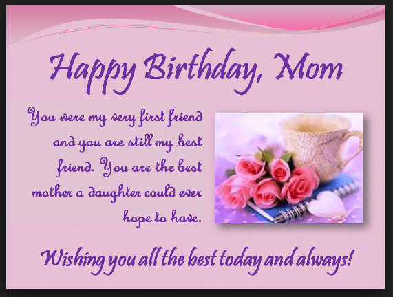 Best ideas about Birthday Wishes For Mom . Save or Pin Heart Touching 107 Happy Birthday MOM Quotes from Daughter Now.
