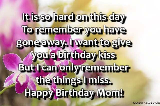 Best ideas about Birthday Wishes For Mom Who Has Passed Away . Save or Pin Best Happy Birthday Mom Status Who Passed Away From Now.