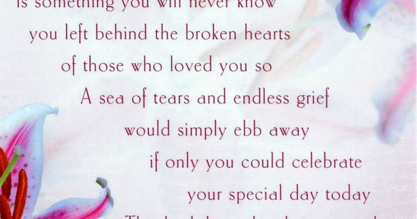 Best ideas about Birthday Wishes For Mom Who Has Passed Away . Save or Pin Happy Birthday Poem For A Mom That Passed Away Happy Now.
