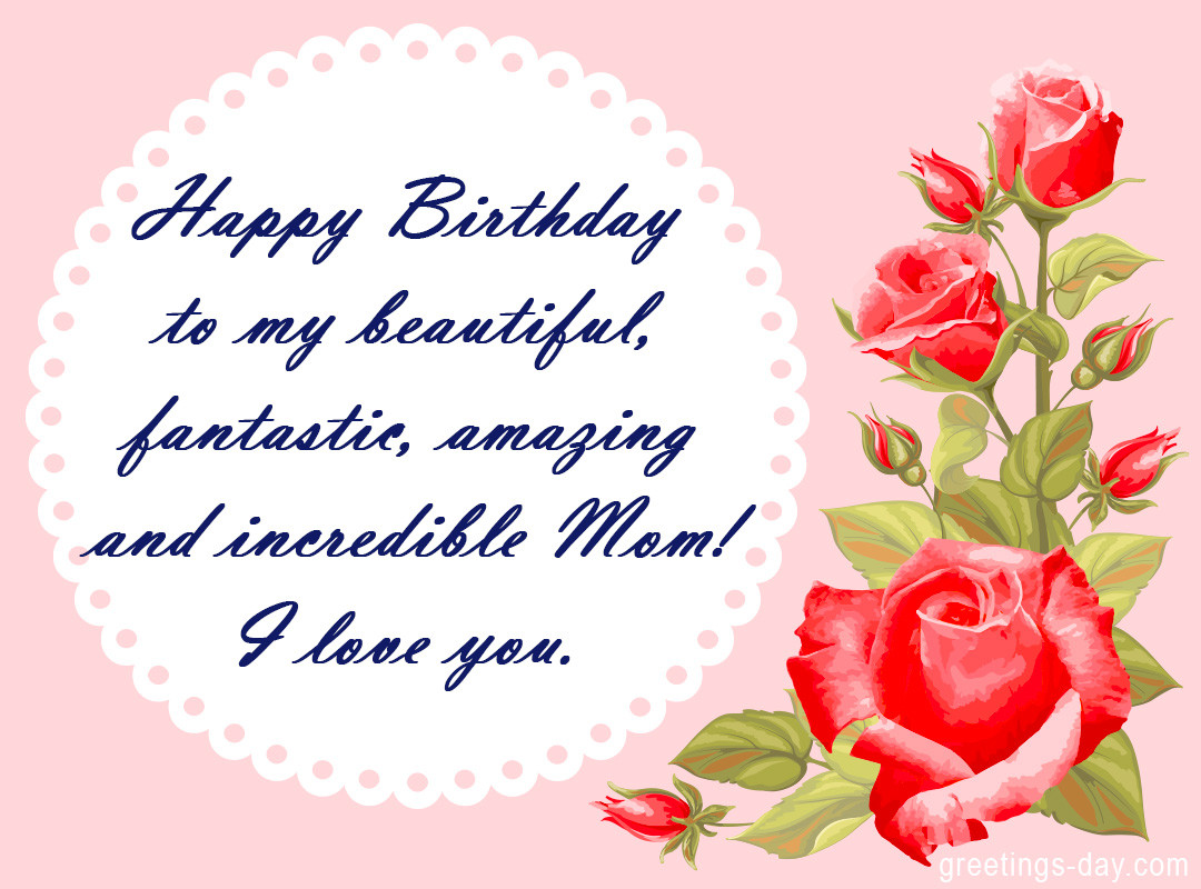 Best ideas about Birthday Wishes For Mother . Save or Pin Birthday Wishes for Mom Happy birthday Mother Now.