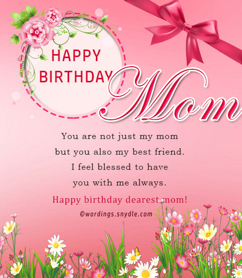 Best ideas about Birthday Wishes For Mother . Save or Pin Birthday wishes for mother Wordings and Messages Now.