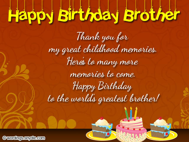 Best ideas about Birthday Wishes For My Brother . Save or Pin Best Birthday Wishes for Friend Sister Brother Page 2 Now.