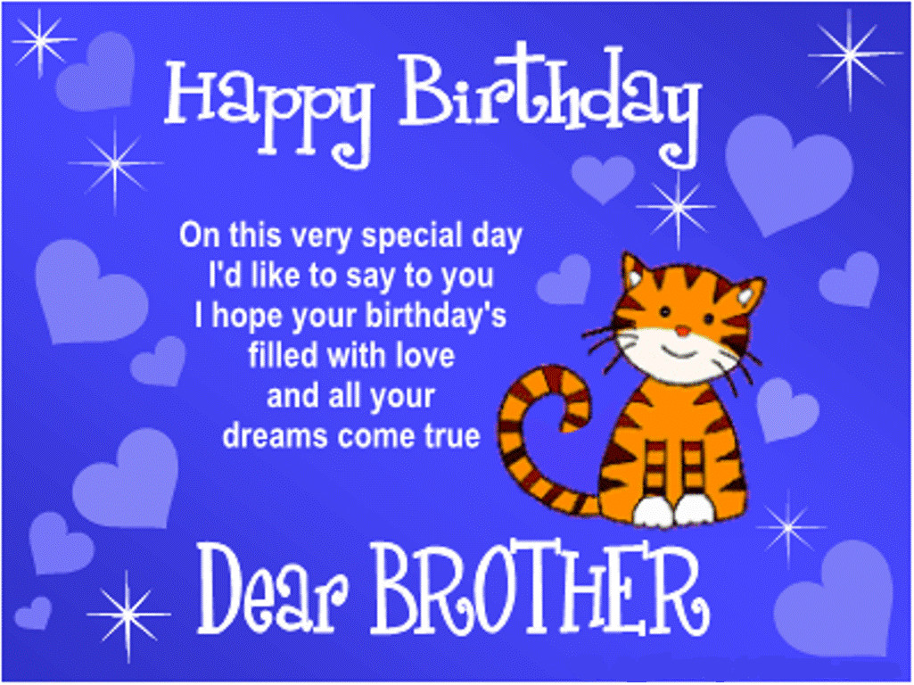 Best ideas about Birthday Wishes For My Brother . Save or Pin Happy Birthday Wishes Quotes SMS Messages ECards Now.