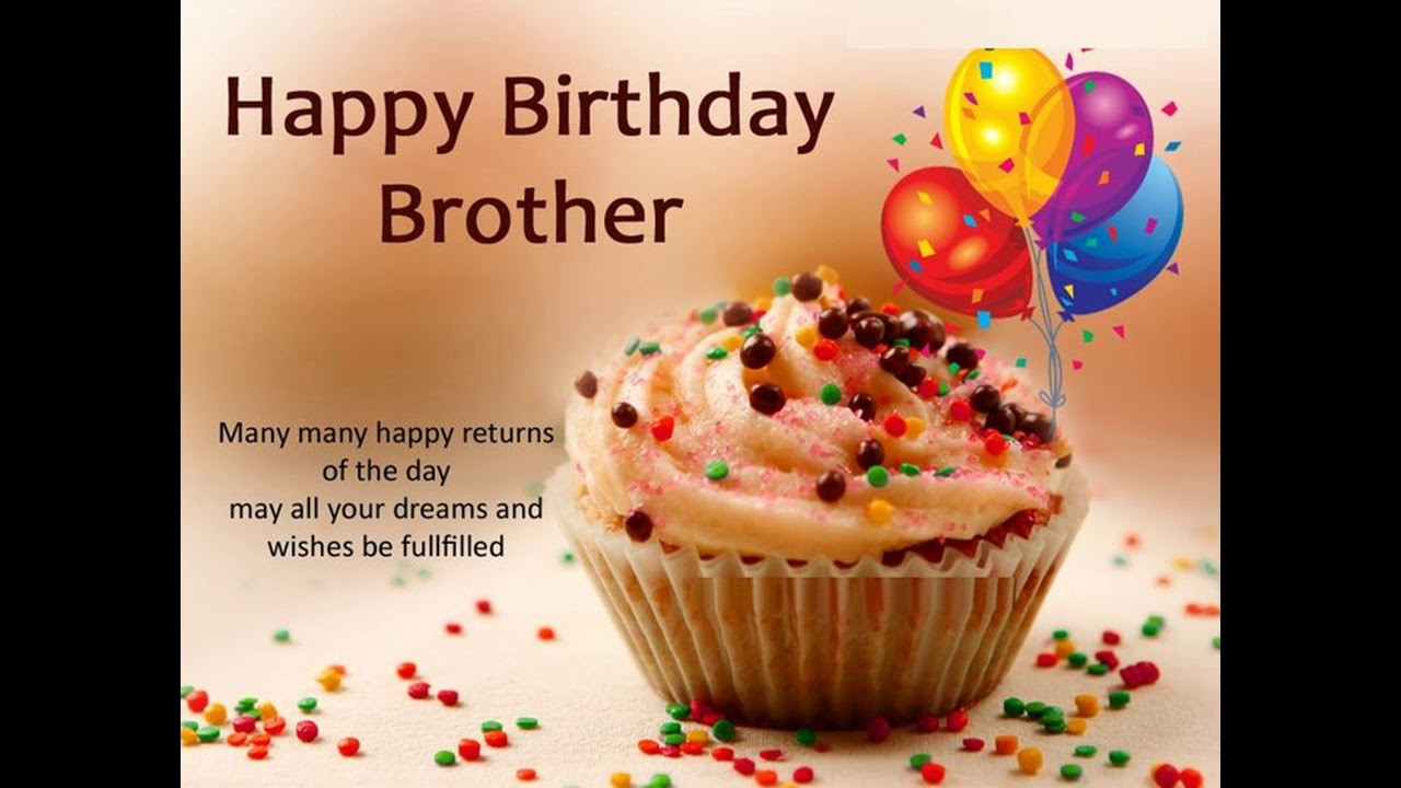 Best ideas about Birthday Wishes For My Brother . Save or Pin Brother Birthday Wishes WhatsApp Video Happy Birthday My Now.