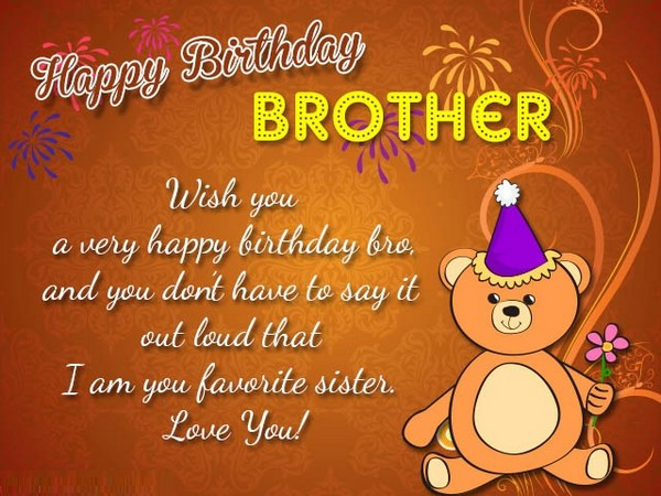 Best ideas about Birthday Wishes For My Brother . Save or Pin 200 Best Birthday Wishes For Brother 2019 My Happy Now.