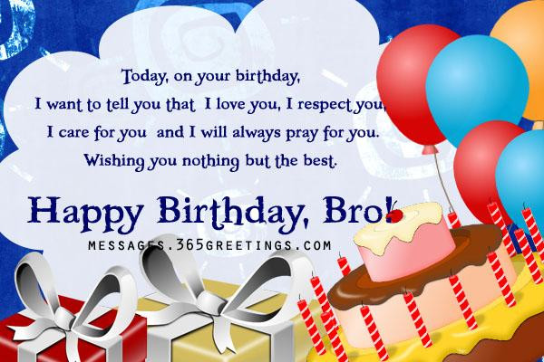 Best ideas about Birthday Wishes For My Brother . Save or Pin Birthday Wishes for Brother 365greetings Now.
