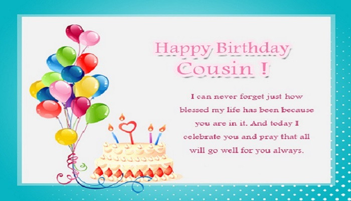 Best ideas about Birthday Wishes For My Cousin . Save or Pin Happy Birthday Wishes For Cousin Female and Male Quotes Now.