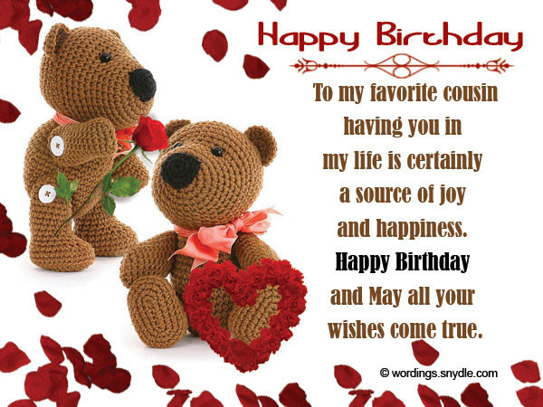 Best ideas about Birthday Wishes For My Cousin . Save or Pin 60 Happy Birthday Cousin Wishes and Quotes Now.