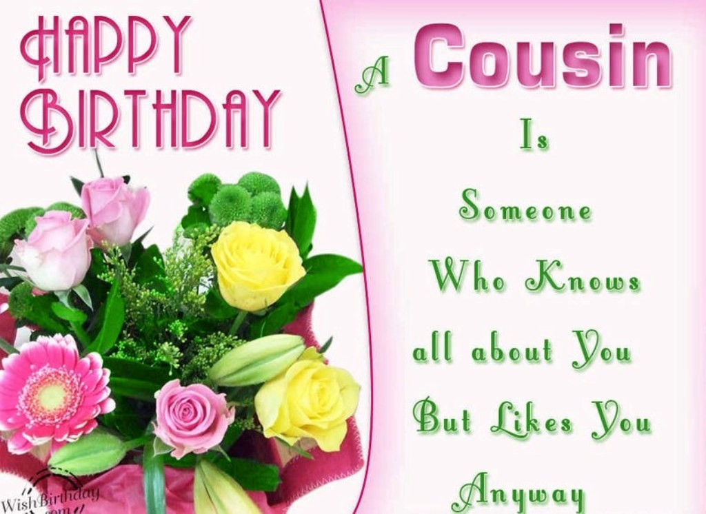 Best ideas about Birthday Wishes For My Cousin . Save or Pin 50 Happy Birthday Wishes For Your Favorite Cousin Now.