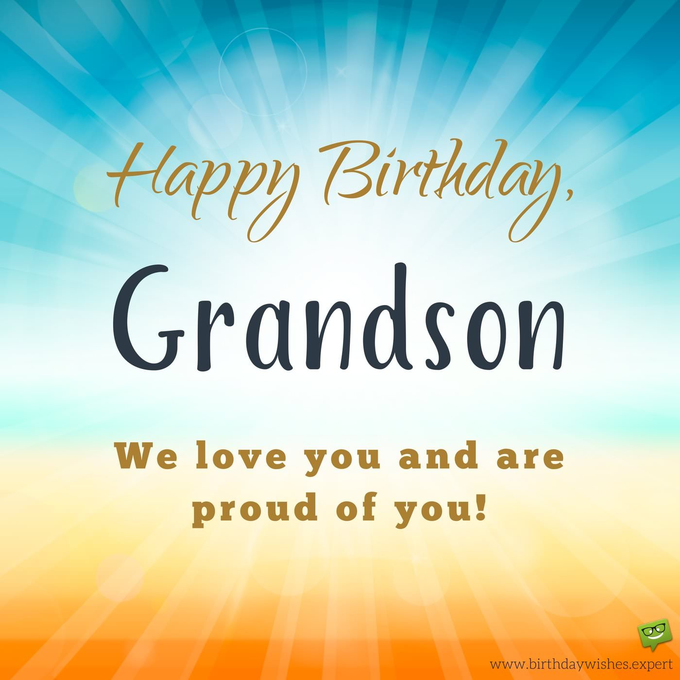 Best ideas about Birthday Wishes For My Grandson . Save or Pin From your Grandma & Grandpa Birthday Wishes for my Grandson Now.