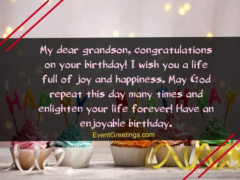 Best ideas about Birthday Wishes For My Grandson . Save or Pin 40 Special Birthday Wishes For Grandson With Blessings Now.