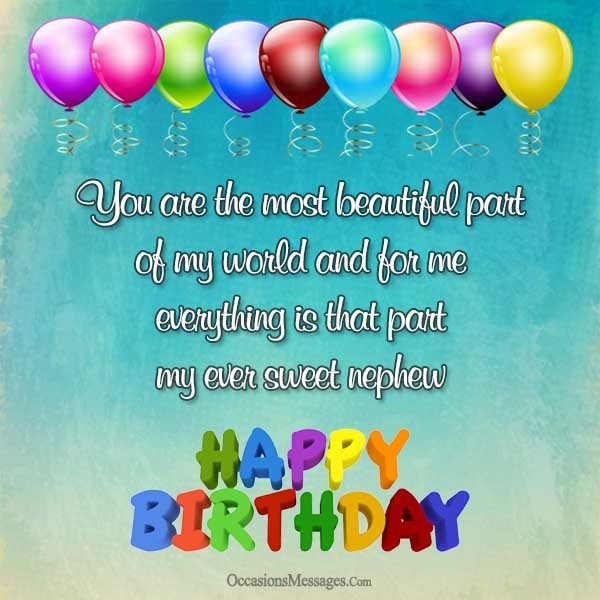 Best ideas about Birthday Wishes For My Nephew . Save or Pin Birthday Wishes for Nephew from Aunt Occasions Messages Now.