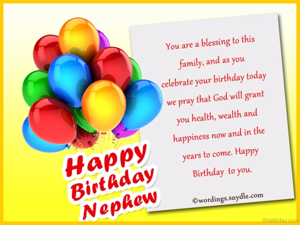 Best ideas about Birthday Wishes For My Nephew . Save or Pin 42 Birthday Wishes For Nephew Now.