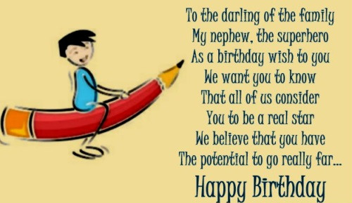 Best ideas about Birthday Wishes For My Nephew . Save or Pin 70 Birthday Wishes and Messages for Nephew Now.