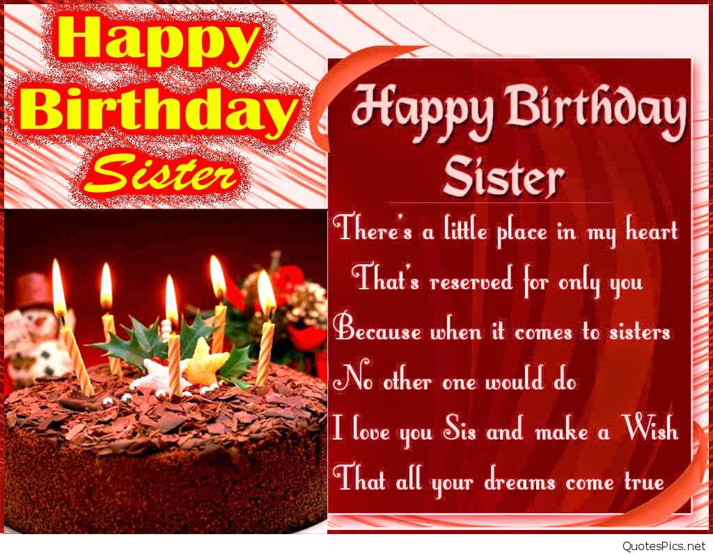 Best ideas about Birthday Wishes For My Sister . Save or Pin Happy birthday cads wallapapers to my sister hd Now.