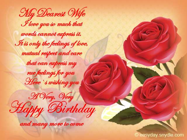 Best ideas about Birthday Wishes For My Wife . Save or Pin Birthday Wishes for Wife Easyday Now.