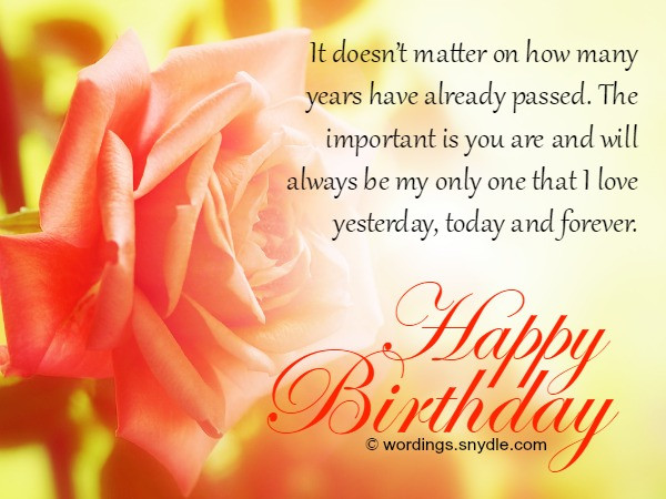 Best ideas about Birthday Wishes For My Wife . Save or Pin Birthday Wishes And Messages for Wife Wordings and Messages Now.