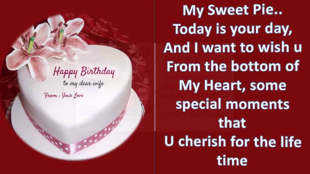 Best ideas about Birthday Wishes For My Wife . Save or Pin Heartfelt birthday message wishes and greetings to wife Now.