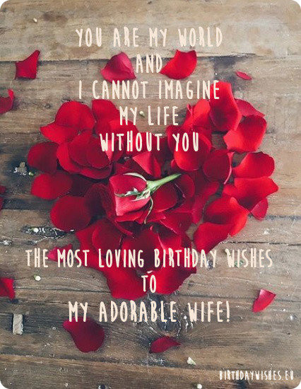 Best ideas about Birthday Wishes For My Wife . Save or Pin 50 Romantic Happy Birthday Wishes For Wife From Husband Now.