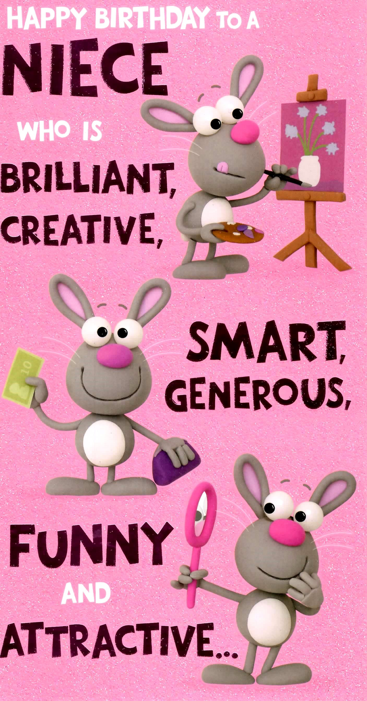 Best ideas about Birthday Wishes For Nice . Save or Pin Cute Funny Niece Birthday Greeting Card Now.