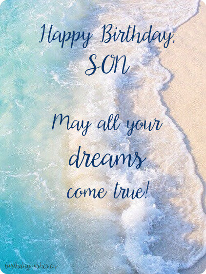 Best ideas about Birthday Wishes For Son . Save or Pin Happy Birthday Son Now.