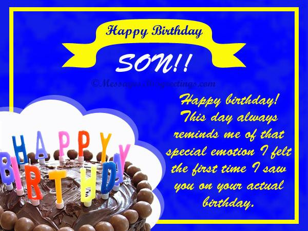 Best ideas about Birthday Wishes For Son . Save or Pin Birthday Wishes for Son 365greetings Now.