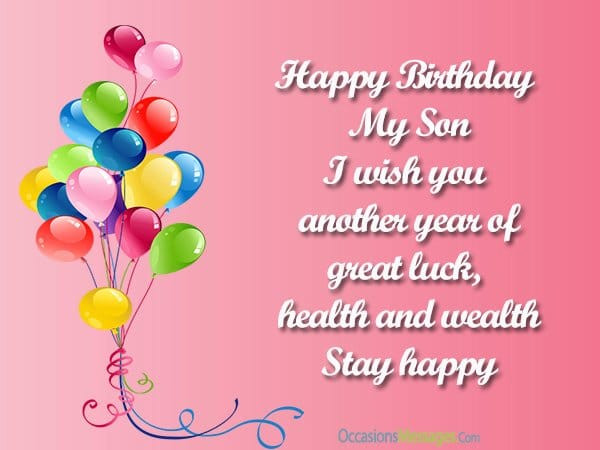 Best ideas about Birthday Wishes For Son . Save or Pin Top 100 Birthday Wishes for Son Occasions Messages Now.