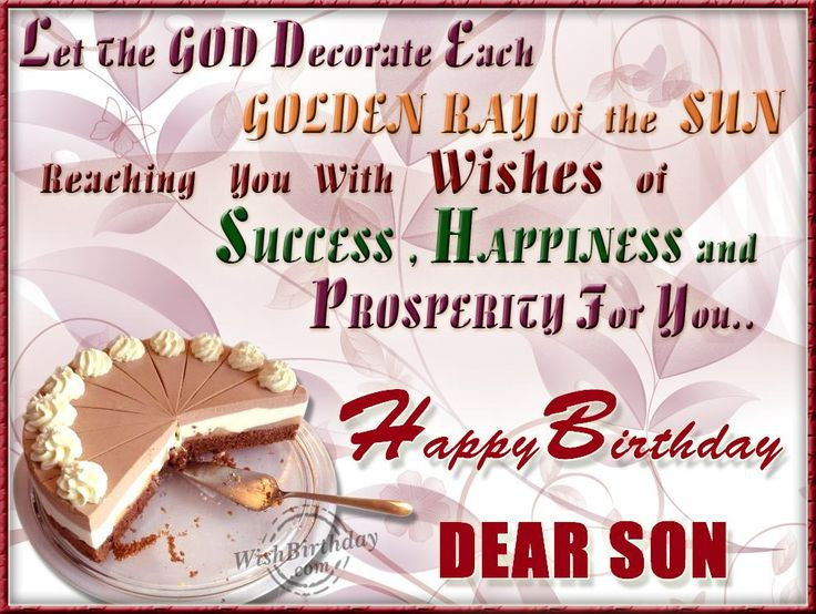 Best ideas about Birthday Wishes For Son From Mother For Facebook . Save or Pin birthday wishes for a son from a mother Google Search Now.