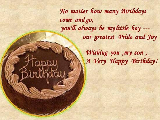 Best ideas about Birthday Wishes For Son From Mother For Facebook . Save or Pin Mom to Son Birthday Wishes Now.