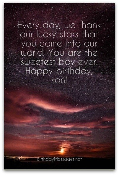 Best ideas about Birthday Wishes For Son . Save or Pin Son Birthday Wishes Unique Birthday Messages for Sons Now.