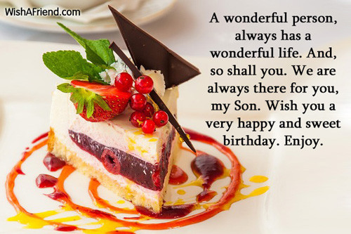 Best ideas about Birthday Wishes For Son . Save or Pin Birthday Wishes For Son Now.